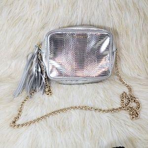 Victoria's Secret Silver Crossbody Bag